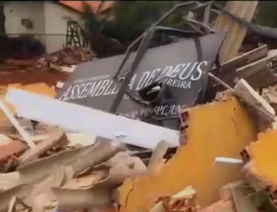 Templo da Assembleia de Deus demolido no DF