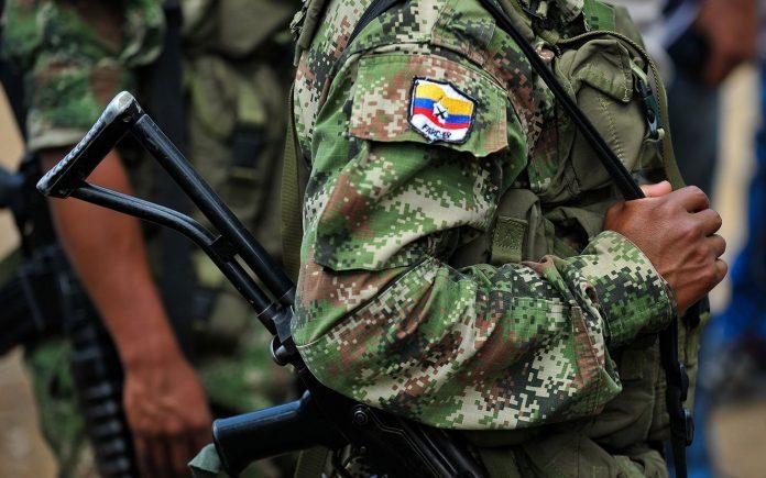 Guerrilheiros das FARC na Colômbia
