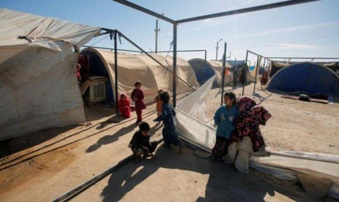Criancas refugiadas no Iraque