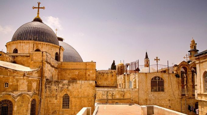 Cúpula da igreja do Santo Sepulcro em Jerusalém