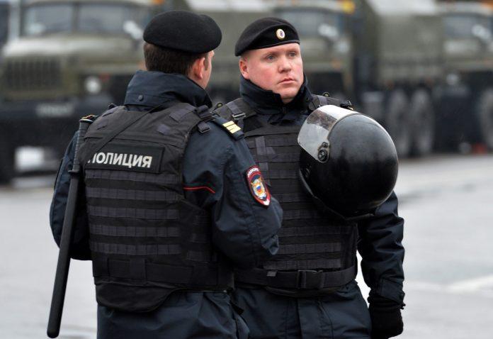 Policiais na Rússia