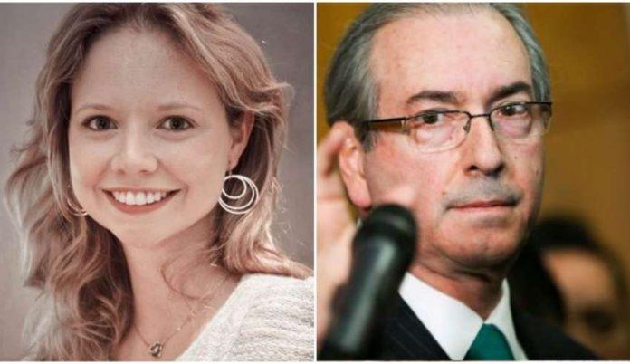 Danielle Dytz da Cunha e seu pai, o ex-deputado federal Eduardo Cunha (MDB-RJ)