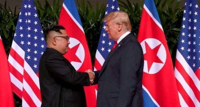 Encontro histórico entre o presidente dos EUA,, Donald Trump, e o presidente norte-coreano, Kim Jong-un