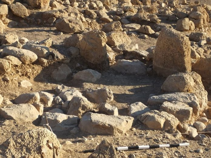 Pequena estrutura com muros de pedras pode ter cercado os animais dos antigos israelitas. (Foto: The Jordan Valley Excavation Project)