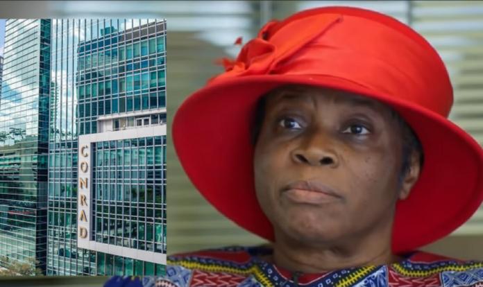 Marie Jean Pierre foi funcionária do Conrad Hotel por 10 anos e demitida por se recusar a trabalhar nos domingos. (Imagem: Facebook; YouTube)