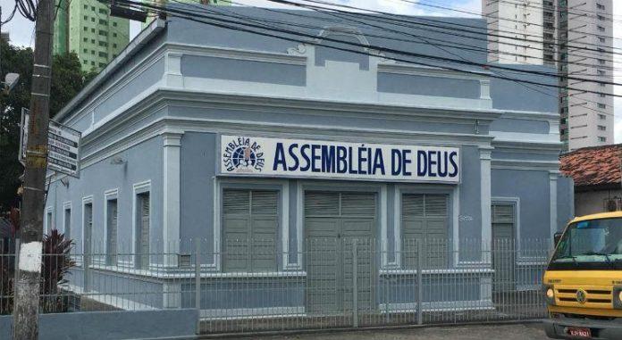 Templo da Assembleia de Deus localizada na Avenida Caxangá, no bairro do Cordeiro em Recife (PE)