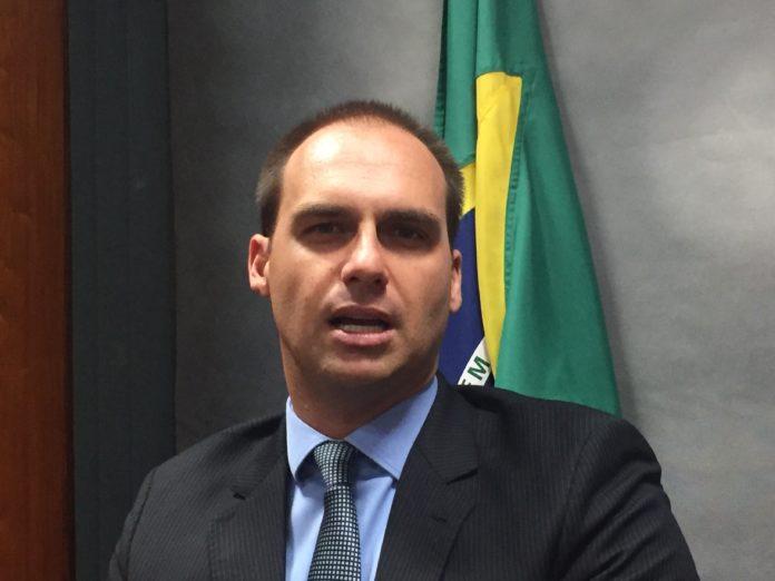 Deputado Federal Eduardo Bolsonaro, filho do presidente do Brasil, Jair Bolsonaro
