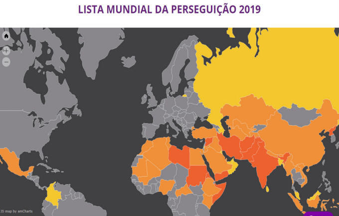 A Missão Portas Abertas divulga a Lista Mundial da Perseguição 2019