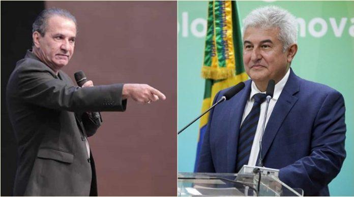 Pastor Silas Malafaia e o ministro da Ciência e Tecnologia, Marcos Pontes