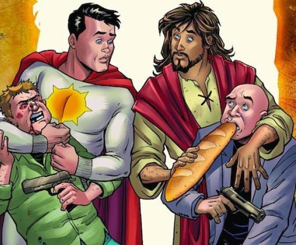 Revista em quadrinhos da DC Comics zomba de Jesus Cristo