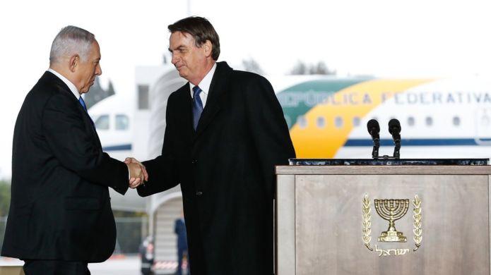 Bolsonaro e Netanyahu em Israel
