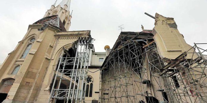 Igreja Evangélica Luterana Martin Luther, em SP, destruída após desabamento de prédio em 1º de maio de 2018