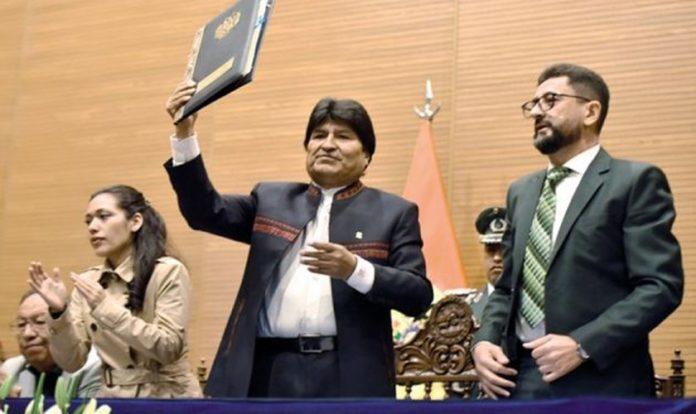 Presidente boliviano Evo Morales aprova a Lei da Liberdade Religiosa no país. (Foto: Reprodução/Correo del Sur)