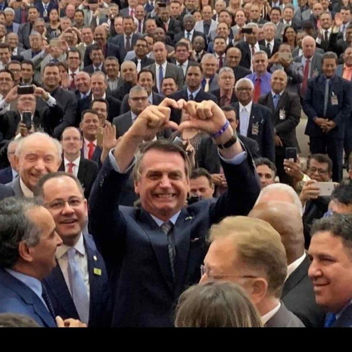Jair Bolsonaro participa da 46ª Assembleia Geral da Convenção Nacional das Assembleias de Deus – Ministério Madureira, em Goiânia, Goiás