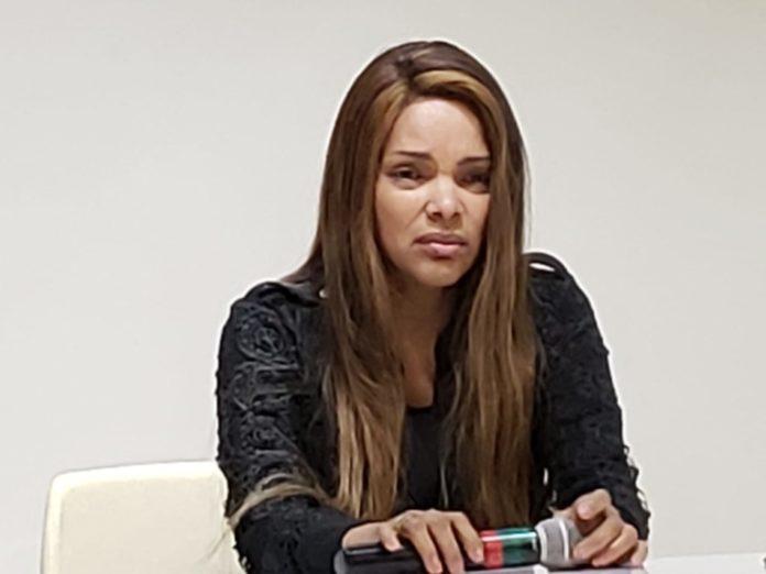Flordelis concedeu entrevista coletiva na terça-feira, 25 de junho, para falar sobre a morte do seu marido, o pastor Anderson do Carmo.