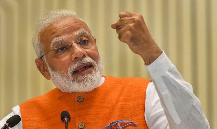 Narendra Damodardas Modi é um político indiano que atua como 14º e atual primeiro ministro da Índia desde 2014. Crédito da imagem: PTI
