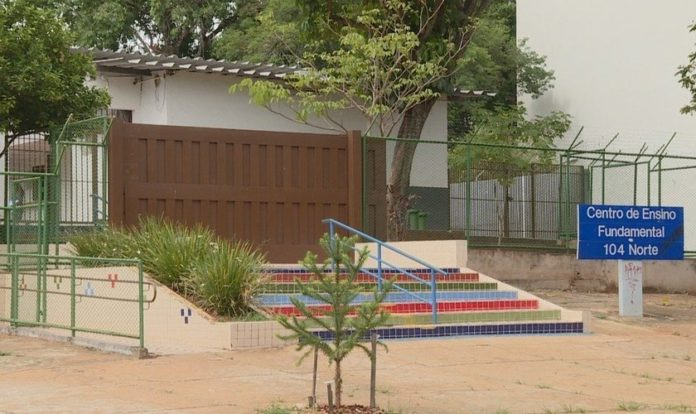 Centro de Ensino Fundamental - Asa Norte. (Foto: Foto: TV Globo/Reprodução)