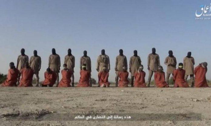 11 reféns cristãos foram decapitados por terroristas do Estado Islâmico