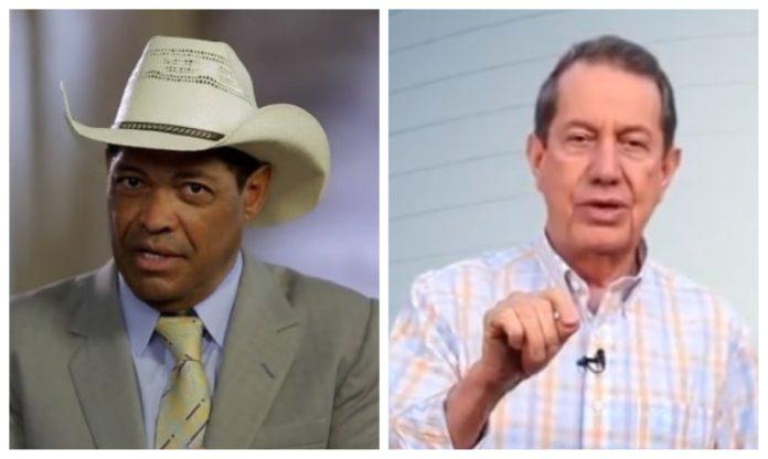 Valdemiro Santiago e R. R. Soares, líderes da Igreja Mundial do Poder de Deus e da Igreja Internacional da Graça de Deus, respectivamente
