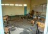 Sala de aula destruída no Quênia