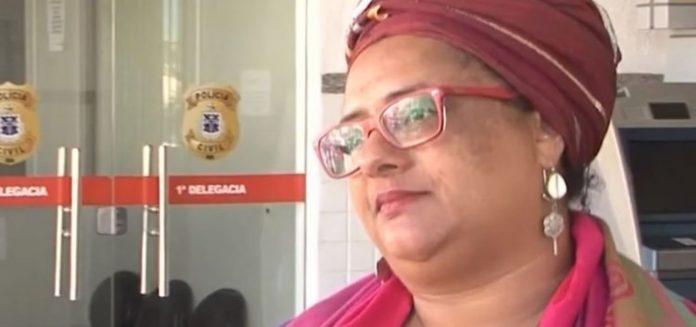 A mãe de santo Rosilene Teixeira denunciou pastor após ato de intolerância religiosa — Foto: Divulgação/TV Sudoeste