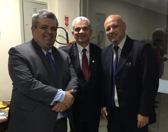 Dr. Hilário Franklin, Dr. Gilberto Garcia e Pr. Renato Reis
