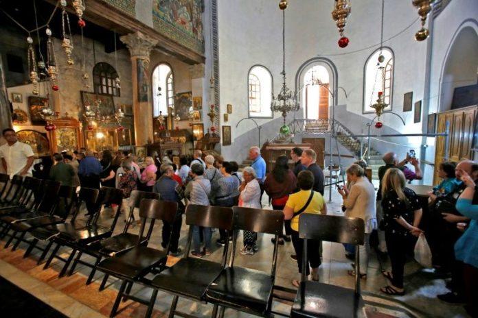 Basílica da Natividade de Belém, construída no local onde teria nascido Jesus Cristo, segundo a tradição cristã