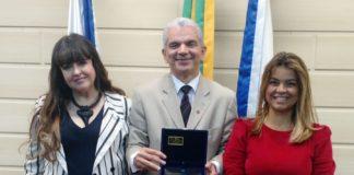 Dra. Adriana Horta Fernandes, Dr. Gilberto Garcia e Dra. Guiomar Mairovitch - Homenagem EMERJ
