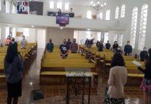 Igreja em Santa Catarina retomou os cultos seguindo as restrições estabelecidas. (Foto: Divulgação)