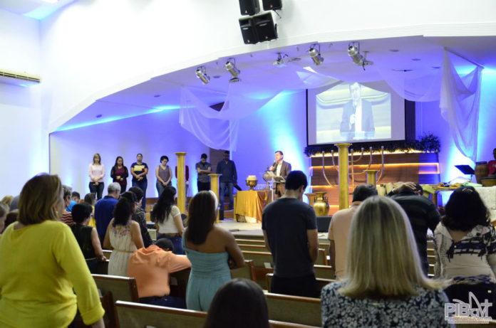 Culto na Primeira Igreja Batista de Cachoeiro de Itapemirim (ES), em 2017