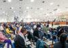 Igreja Mundial do Poder de Deus no último dia 3 de maio: cerca de 3000 fiéis no culto em meio a pandemia do coronavírus(Foto: Egberto Nogueira/Ímãfotogaleria/VEJA)