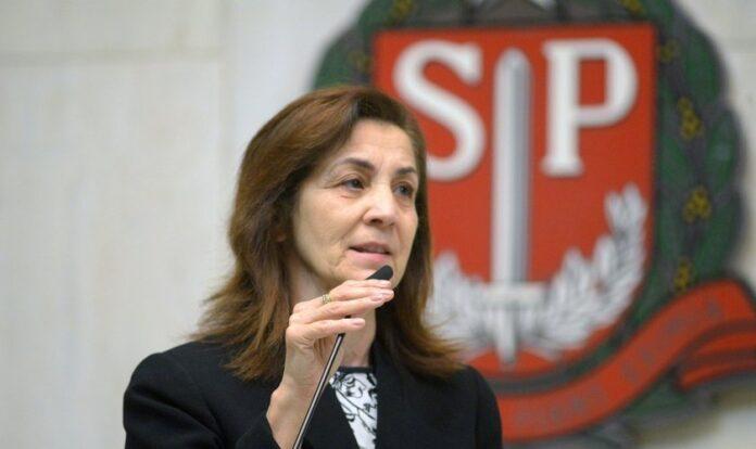 A deputada Marta Costa em plenário da Assembleia Legislativa de São Paulo. (Foto: José Antonio Teixeira / Alesp)