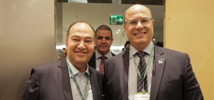 Pastor Everaldo, presidente do PSC, ao lado do governador do Rio de Janeiro, Wilson Witzel (PSC)