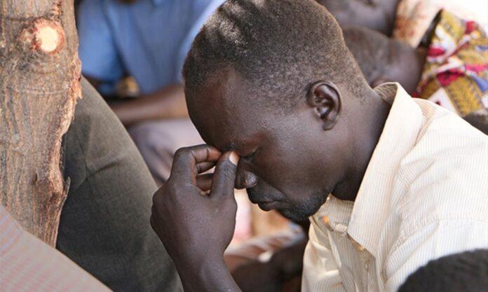 Cristão orando no Sudão do Sul