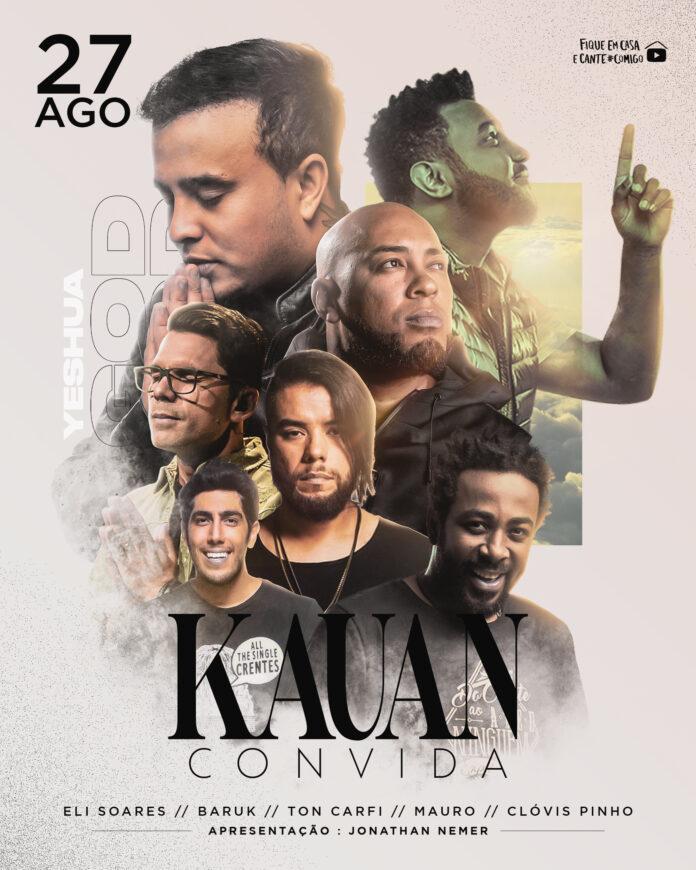 Kauan, da dupla com Matheus, realiza live solidária com cantores gospel