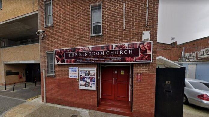 A igreja The Kingdom, em Londres, está sendo investigada pela 2ª vez após a venda de produtos que protegeria contra a covid Imagem: Reprodução/Google Maps