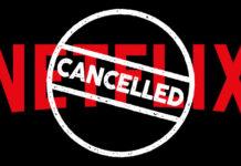 """Marca da Netflix com carimbo de """"cancelada"""" em inglês (Imagem ilustrativa)"""