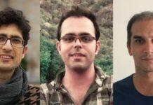 Kavian Fallah-Mohammadi, Amin Afshar-Naderi e Hadi Asgari foram considerados perigosos para a segurança nacional do Irã (foto: Article18)