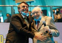 Presidente Jair Bolsonaro participa, neste sábado (19), de evento da igreja Assembleia de Deus, ao lado do bispo Manoel Ferreira - Carolina Antunes/PR