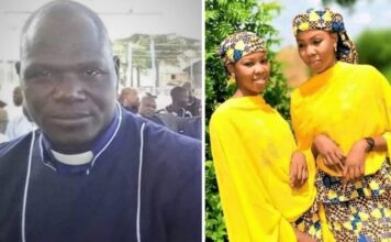 Rev. Alubara Audu, pastor da ECWA, morto por muçulmanos; as irmãs Hassana e Hussaina Garba, sequestradas no estado de Katsina, Nigéria. (Foto: Reprodução / Facebook)