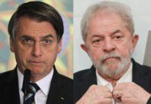 O atual presidente do Brasil, Jair Bolsonaro e o ex-presidente Lula