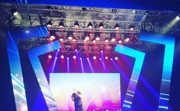 Paulo Cezar (Grupo Logos) se apresenta durante o 4º Prêmio Melhores do Ano Gospel