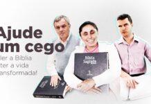 Sociedade Bíblica do Brasil (SBB) criou a campanha Doe a Bíblia #PraCegoLer.