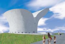 Com coautoria de Oscar Niemeyer e seu bisneto, Paulo Sérgio Niemeyer, o projeto arquitetônico do Museu da Bíblia expõe a aparência do local que deve receber cerca de 100 mil visitantes anualmente, em Brasília. (Imagem: reprodução / Instituto Niemeyer)
