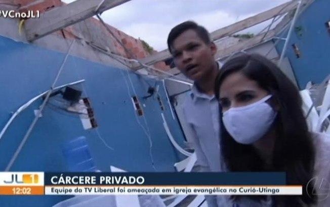 Equipe da Rede Globo é mantida refém dentro de igreja no Pará