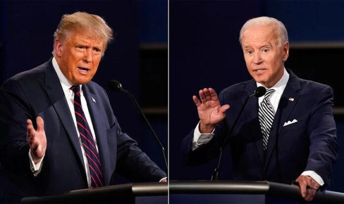 Donald Trump (E) e Joe Biden (D) disputam eleições em 3 de novembro. (Foto: Reprodução / El País)