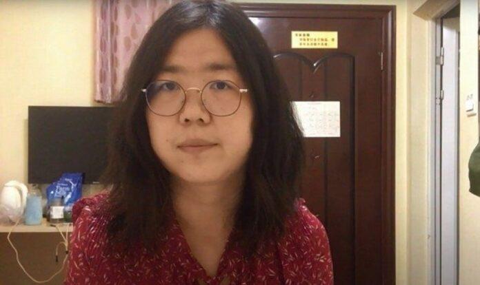 A jornalista Zhang Zhan visitou Wuhan em fevereiro de 2020, no auge do surto de coronavírus, enquanto ele se tornava uma pandemia em todo o mundo. (Foto: Handout / Youtube)