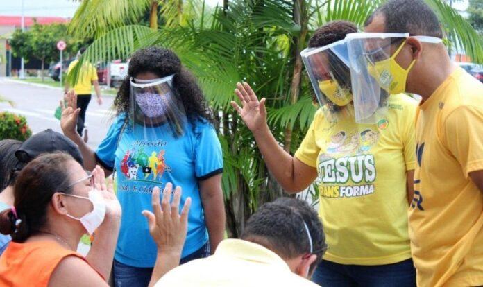 Ação realizada em Manaus em meio a colapso durante a pandemia de Covid-19. (Foto: Missões Nacionais)