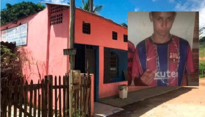 Uilton Meira de Oliveira Júnior, 16 anos, morreu na igreja pedindo perdão depois de ser baleado.