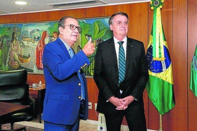 Encontro do pastor Silas Malafaia com Jair Bolsonaro - (crédito: ISAC NOBREGA)